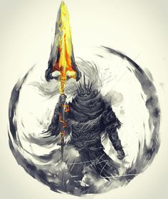 """Soulstober Day """" Lord Gwyn's firstborn was a god of war, but his foolishness led to a loss of the annals, and rescinding of his deific status. Today, even his name is not known"""" Nameless King Sif Dark Souls, Arte Dark Souls, Soul Saga, Bloodborne Art, Soul Tattoo, Arte Cyberpunk, King Art, King King, Video Game Art"""