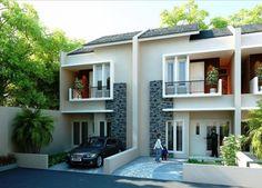 dua lantai desain modern #rumah #minimalis #fasad #desain