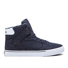 SUPRA VAIDER | BLUE DENIM/WHITE - WHITE | Again i want these but they're NOT IN MY SIZE :'( Im literally crying