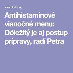 Antihistamínové vianočné menu: Dôležitý je aj postup prípravy, radí Petra Petra, Menu, Menu Board Design