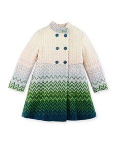 Missoni Zigzag Knit Double-Breasted Coat