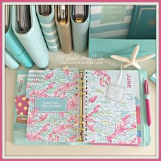 Hello, Summer! Yes, I'm a planner addict... Filofax, Kikki K, Websters pages, may designs & Lilly Pulitzer :-) it's a beach cottage life