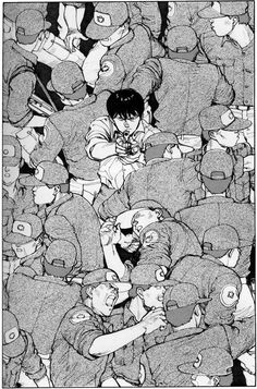 《Akira》 by 大友克洋 Katsuhiro Otomo Art Manga, Manga Artist, Manga Drawing, Anime Art, Comic Manga, Manga Comics, Manga Akira, Comic Books Art, Comic Art