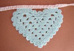Your Handmade Wedding - Heart Crochet Bunting #Crochet #Bunting #WeddingDecor