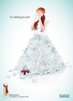 Mooie jurk... de oorzaak niet. (Oscillococcinum: Flu - adsoftheworld.com)