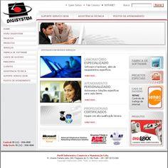 Site institucional e de serviços da DigiSystem