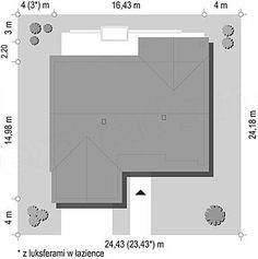 Projekt domu Parterowy 4 122,77 m2 - koszt budowy 207 tys. zł - EXTRADOM Creative Words, Bar Chart, House Plans, Floor Plans, House Design, How To Plan, Home, Country Houses, Ad Home