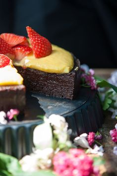 Chocolate cake with orange curd and Grand Marnier... - ♥ Mademoiselle Rose ♥
