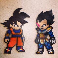 Goku and Vegeta Dragonball  Z perler beads by rabidmonkey5
