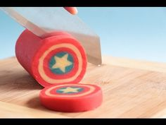 Captain America Shield Cookie Log - YouTube