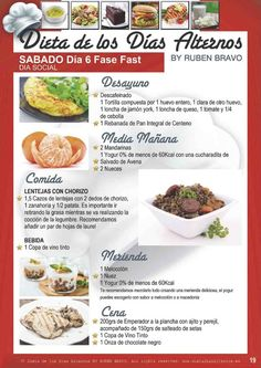 La Dieta de los días alternos es recomendada para quienes sufren de un problema de sobrepeso u obesidad leves.