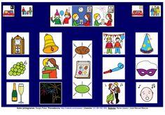 Año Nuevo - Tablero de comunicación. http://informaticaparaeducacionespecial.blogspot.com.es/p/tableros-de-comunicacion.html