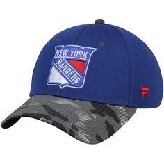 New York Rangers Camo Adjustable Hat - Royal
