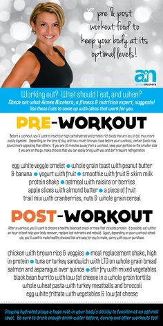Pre & Post #Workout Food #fitness