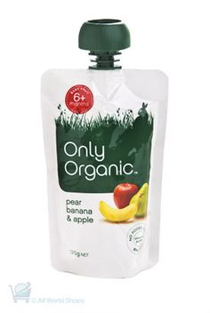 Delicious Pear, Apple and Banana Baby Food from Only Organic