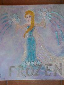 Elsa, Disney Characters, Fictional Characters, Aurora Sleeping Beauty, Paintings, Disney Princess, Art, Craft Art, Painting Art