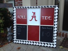 Alabama Roll Tide Window Pane By PolkaDachDesigns On Etsy, $85.00 · Alabama  BedroomAlabama DecorAlabama ...