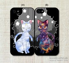 Sailor Moon Luna and Artemis Cat fashion lover couple Case cover for iphone 4 4s 5 5s 5c 6 6plus made of the latest material