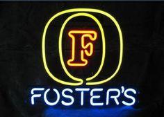 "New Foster/'s Logo Beer Bar Neon Sign 20/""x16/"""
