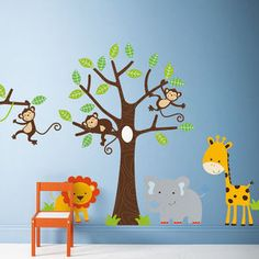 Children's Jungle Wall Sticker Set - wall stickers