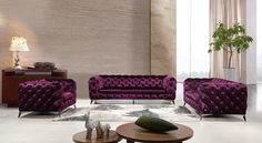 online shopping for J M Furniture Glitz Purple Fabric Living Room Sofa from top store. See new offer for J M Furniture Glitz Purple Fabric Living Room Sofa Fabric Chesterfield Sofa, Fabric Sofa, 3 Piece Living Room Set, Living Room Sets, Bedroom Sets, Contemporary Sofa, Modern Sofa, Modern Living, Purple Sofa