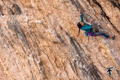 DAILA OJEDA ::: Digital System (8c), Santa Linya, Spain : She may be petite, but she's a powerhouse, redpointing multiple routes at 8b and harder. At Siurana, she and Whatshisname warmed up on a 7b+, right next to *my* 7b+ project, a humbling but inspiring experience. Photo © Florian Murnig.