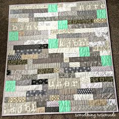 RMM Quilt/something rosemade: The Hinto Minto Baby Quilt