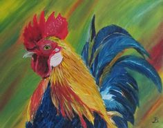 Hey, I found this really awesome Etsy listing at https://www.etsy.com/listing/387620646/rooster-painting-animal-painting-oil
