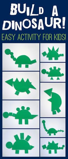 Sep 5, 2013 ... Lay out all the shapes and show your child how to build a dinosaur. You can use the shapes however you wish. Here are the general ideas:.