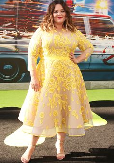 """Melissa McCarthy at the Los Angeles premiere of """"Ghostbusters"""" on July 9, 2016"""