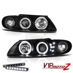 >> LED LIGHT BAR KIT<< 04-06 Pontiac GTO Black Halo Projector Headlight Lamp #VIPMOTOZ