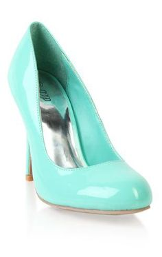 patent round toe pumps