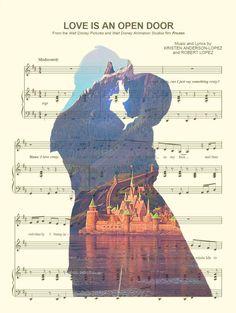 Frozen Anna et Kristoff Art Print par AmourPrints sur Etsy