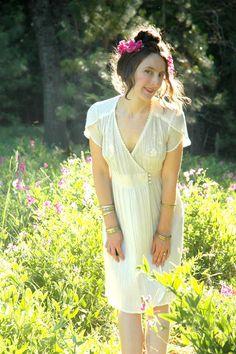 1970s California Boho Dress... White Cotton by AstralBoutique, $48.00