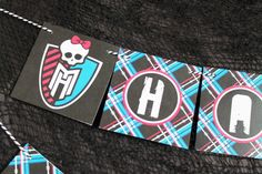 Monster High Collection. Banner. DIY Printable by PinkadotShop, $6.00