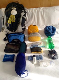 Camino – What To Pack « brickthomas's Blog This man has an ultra-light list! I especially liked his system for packing the night before and clipping what couldn't be packed to the outside of his rucksack so it was almost impossible to leave things behind. I needed a few more warm things, but maybe you wouldn't.