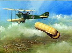 AEG CI 1915 Observation Aircraft (Original) (Signed) art by Ron Jobson at The…
