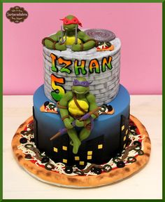 Teenage Mutant Ninja Turtles - Cake by Lara Tartacadabra