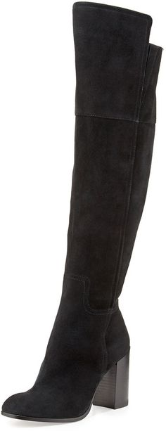 $245, Talia Suede Over The Knee Boot by Pour La Victoire. Sold by Neiman Marcus. Click for more info: http://lookastic.com/women/shop_items/152534/redirect
