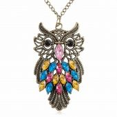 Bijoux en forme de bijoux et de chouettes, bijoux vintage et hipster