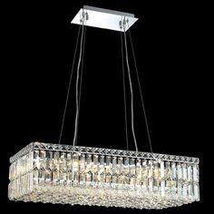 C121-2034D28CBy Regency Lighting - Maxim Collection Polished Chrome Finish Chandelier