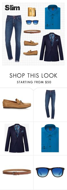 """Slim Cut Jeans Men's"" by arimacias on Polyvore featuring Tomas Maier, Jacob Cohёn, Ted Baker, Madison, Lucky Brand, Taylor Morris, Paco Rabanne, men's fashion y menswear"
