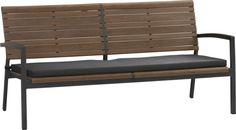 Rocha Sofa with Sunbrella®Charcoal Cushion  | Crate and Barrel
