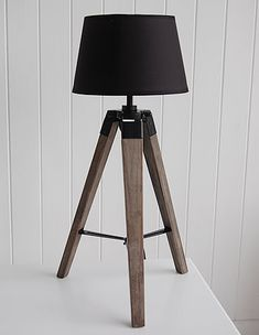 tripod table lamp with shade the white lighthouse