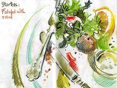 Urban Sketchers: food and drink