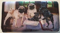 Pug-Dog-Wallet-Fawn-Black-Pugs-Magnetic-Snap-Shut-Artist-Ruth-Maystead