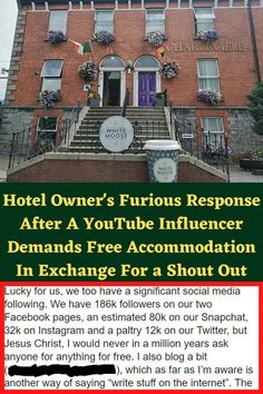 Hotel Owner's Furious Response After A YouTube Influencer Demands Free Accommodation In Exchange For a Shout Out Bathroom Styling, Bathroom Interior Design, Cute Living Room, Stylish Tattoo, Gold Eye Makeup, Couple Photoshoot Poses, Mens Boots Fashion, Hand Jewelry, Cute Dogs And Puppies