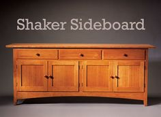 Shaker Sideboard Traditional looks, but an updated construction By Randy Johnson The essence of Shaker design is simplicity. Although I didn't use traditional construction techniques in this project, I did keep it simple. Behind this sideboard's elegant front and sides is a very easy-to-build birch-plywood box joined with biscuits. It's strong and durable. The front and sides are assemblies that are added onto the box. The result is a beautiful, …
