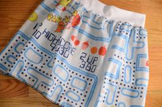 Upcycled Pac-Man Skirt by FoofandCompany ($30)