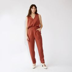 23bd34091e4a Faux jumpsuit-- matching sleeveless top   pants. Could wear as separates or  together. Wear with a cardigan or other layer (turtleneck  long sleeve  tee ) at ...